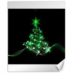 Christmas Tree Background Canvas 11  X 14