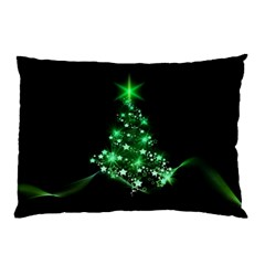 Christmas Tree Background Pillow Case by BangZart