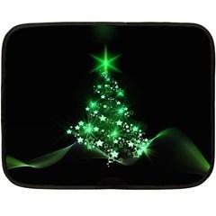 Christmas Tree Background Double Sided Fleece Blanket (mini)