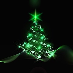 Christmas Tree Background Magic Photo Cubes by BangZart