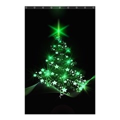 Christmas Tree Background Shower Curtain 48  X 72  (small)
