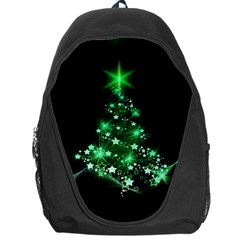 Christmas Tree Background Backpack Bag