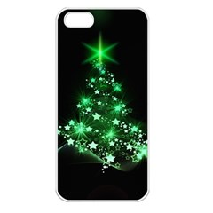 Christmas Tree Background Apple Iphone 5 Seamless Case (white)