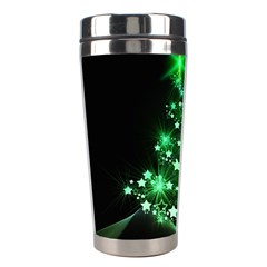 Christmas Tree Background Stainless Steel Travel Tumblers