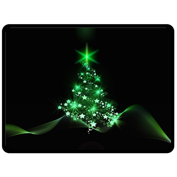 Christmas Tree Background Double Sided Fleece Blanket (Large)