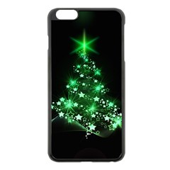 Christmas Tree Background Apple Iphone 6 Plus/6s Plus Black Enamel Case