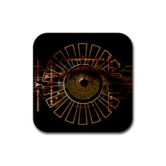 Eye Technology Rubber Coaster (square)