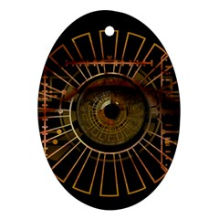 Eye Technology Oval Ornament (two Sides)