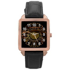 Eye Technology Rose Gold Leather Watch