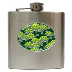 Seamless Tile Background Abstract Hip Flask (6 Oz)