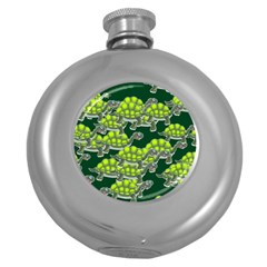 Seamless Tile Background Abstract Round Hip Flask (5 Oz)