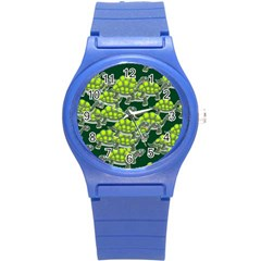 Seamless Tile Background Abstract Round Plastic Sport Watch (s)