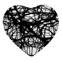 Neurons Brain Cells Brain Structure Heart Ornament (two Sides) by BangZart