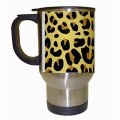 Animal Fur Skin Pattern Form Travel Mugs (white)