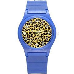 Animal Fur Skin Pattern Form Round Plastic Sport Watch (s)