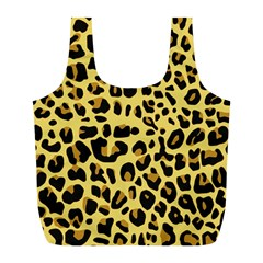 Animal Fur Skin Pattern Form Full Print Recycle Bags (l)
