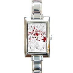 Christmas Star Snowflake Rectangle Italian Charm Watch by BangZart