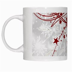 Christmas Star Snowflake White Mugs