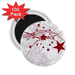 Christmas Star Snowflake 2 25  Magnets (100 Pack)  by BangZart