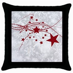 Christmas Star Snowflake Throw Pillow Case (black)