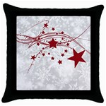 Christmas Star Snowflake Throw Pillow Case (Black) Front