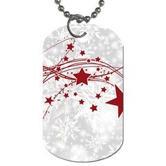 Christmas Star Snowflake Dog Tag (two Sides) by BangZart