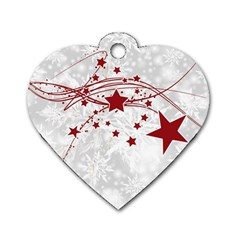 Christmas Star Snowflake Dog Tag Heart (two Sides) by BangZart