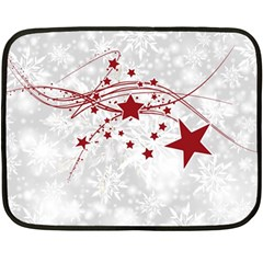 Christmas Star Snowflake Double Sided Fleece Blanket (mini)
