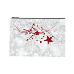 Christmas Star Snowflake Cosmetic Bag (large)  by BangZart