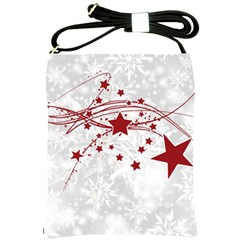 Christmas Star Snowflake Shoulder Sling Bags by BangZart