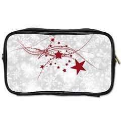 Christmas Star Snowflake Toiletries Bags by BangZart