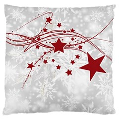 Christmas Star Snowflake Large Cushion Case (two Sides)