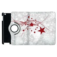 Christmas Star Snowflake Apple Ipad 3/4 Flip 360 Case by BangZart