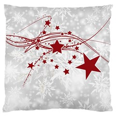 Christmas Star Snowflake Large Flano Cushion Case (one Side)