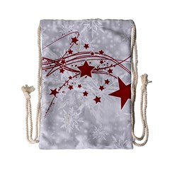 Christmas Star Snowflake Drawstring Bag (small) by BangZart
