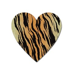 Animal Tiger Seamless Pattern Texture Background Heart Magnet
