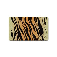 Animal Tiger Seamless Pattern Texture Background Magnet (name Card)