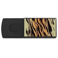 Animal Tiger Seamless Pattern Texture Background Rectangular Usb Flash Drive