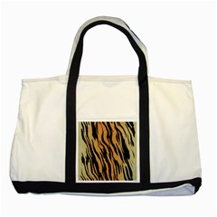Animal Tiger Seamless Pattern Texture Background Two Tone Tote Bag