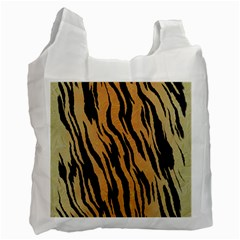 Animal Tiger Seamless Pattern Texture Background Recycle Bag (one Side)