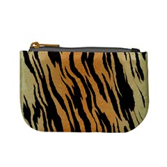 Animal Tiger Seamless Pattern Texture Background Mini Coin Purses