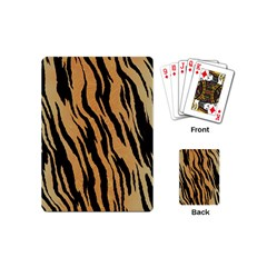Animal Tiger Seamless Pattern Texture Background Playing Cards (mini)