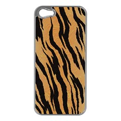 Animal Tiger Seamless Pattern Texture Background Apple Iphone 5 Case (silver)
