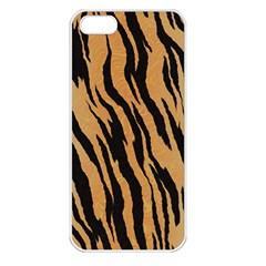 Animal Tiger Seamless Pattern Texture Background Apple Iphone 5 Seamless Case (white) by BangZart
