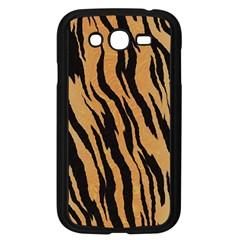Animal Tiger Seamless Pattern Texture Background Samsung Galaxy Grand Duos I9082 Case (black)
