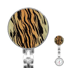 Animal Tiger Seamless Pattern Texture Background Stainless Steel Nurses Watch