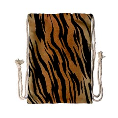 Animal Tiger Seamless Pattern Texture Background Drawstring Bag (small)