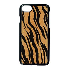 Animal Tiger Seamless Pattern Texture Background Apple Iphone 8 Seamless Case (black)