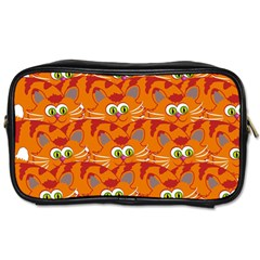 Animals Pet Cats Mammal Cartoon Toiletries Bags