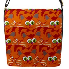 Animals Pet Cats Mammal Cartoon Flap Messenger Bag (s)